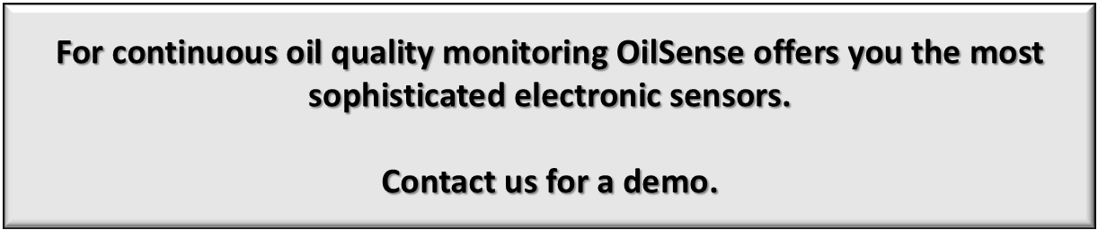 Oil condition monitoring